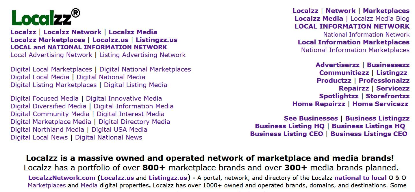 Localzz Homepage