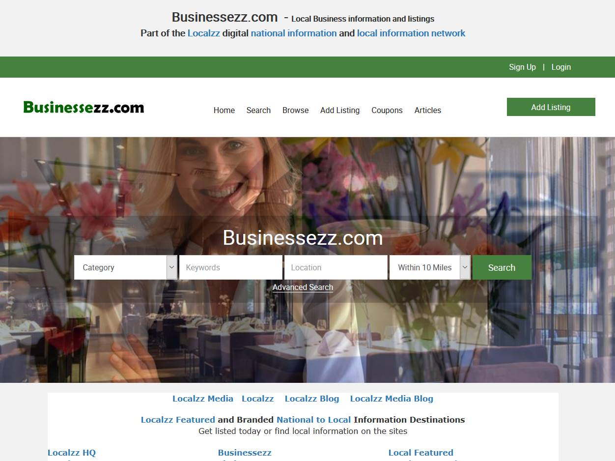 Businessezz.com  - National to local business and information listings